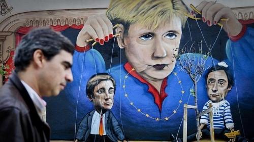 Merkel-puppets